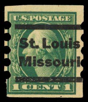 Values of US Stamps Scott Catalogue #481 - 1916 1c Washington Imperf. Daniel Kelleher Auctions, May 2014, Sale 652, Lot 687