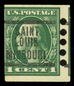 Cost of US Stamps Scott Catalogue # 481: 1916 1c Washington Imperf. Daniel Kelleher Auctions, Sep 2014, Sale 655, Lot 527