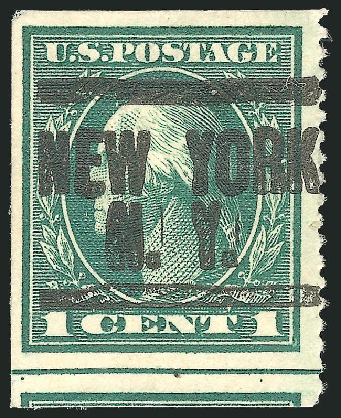 US Stamps Value Scott Cat. #481: 1c 1916 Washington Imperf. Robert Siegel Auction Galleries, Dec 2010, Sale 1001, Lot 2037