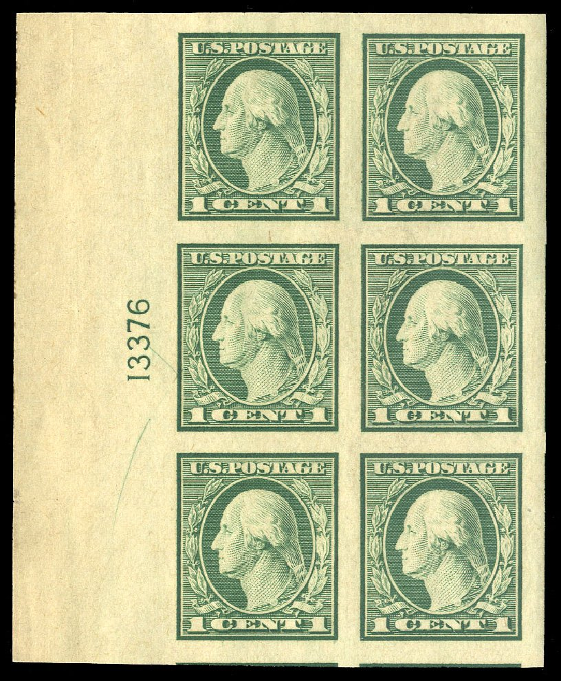 Prices of US Stamps Scott # 481: 1c 1916 Washington Imperf. Cherrystone Auctions, Oct 2012, Sale 201210, Lot 144