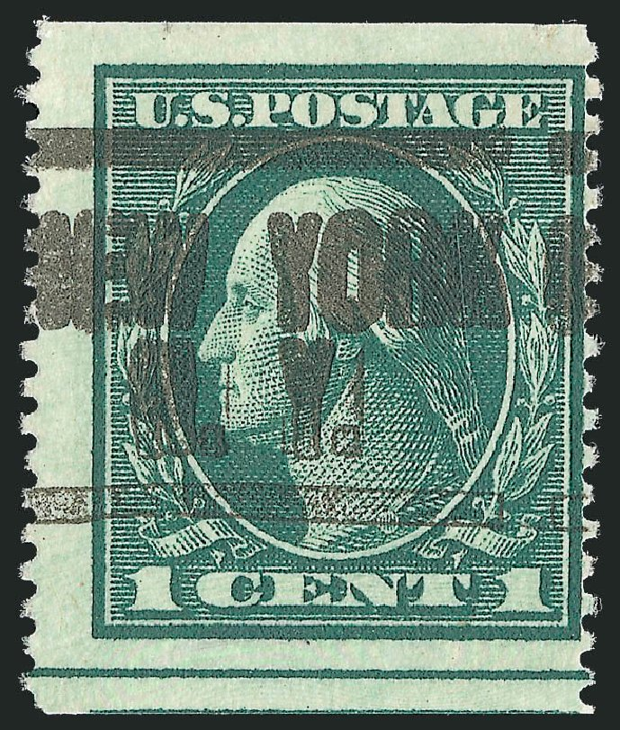 US Stamp Value Scott Cat. # 481: 1c 1916 Washington Imperf. Robert Siegel Auction Galleries, Dec 2010, Sale 1001, Lot 2036