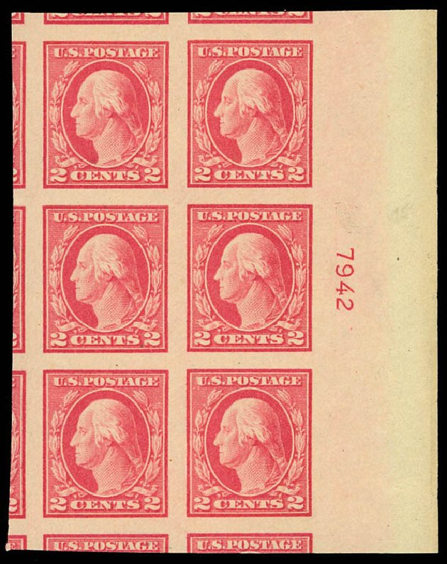 Values of US Stamp Scott Catalog # 482: 1916 2c Washington Imperf. Daniel Kelleher Auctions, Aug 2012, Sale 631, Lot 1239