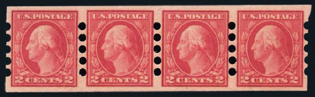 US Stamp Price Scott 482: 2c 1916 Washington Imperf. Harmer-Schau Auction Galleries, Aug 2014, Sale 102, Lot 2224