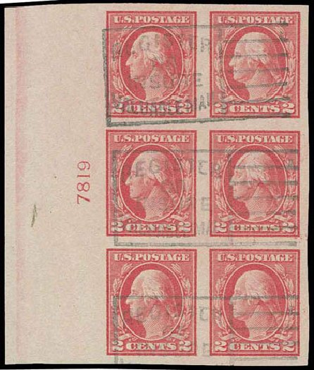 Price of US Stamps Scott Catalog #482 - 2c 1916 Washington Imperf. H.R. Harmer, Nov 2013, Sale 3004, Lot 1285