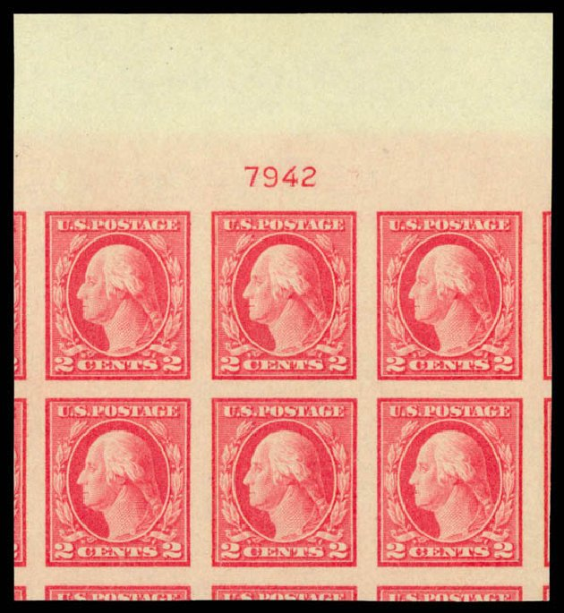Costs of US Stamps Scott Catalogue 482: 2c 1916 Washington Imperf. Daniel Kelleher Auctions, Sep 2013, Sale 639, Lot 3603