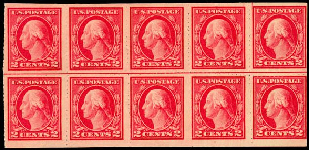 US Stamp Price Scott #482 - 1916 2c Washington Imperf. Daniel Kelleher Auctions, May 2014, Sale 652, Lot 686