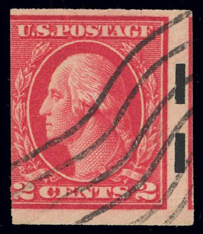 Prices of US Stamps Scott Catalog #482A: 2c 1916 Washington Imperf. Daniel Kelleher Auctions, Feb 2013, Sale 634, Lot 307