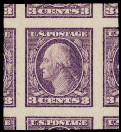 Cost of US Stamp Scott Cat. # 484: 3c 1917 Washington Imperf. Daniel Kelleher Auctions, May 2015, Sale 669, Lot 3078