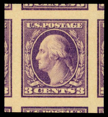 Values of US Stamp Scott 484 - 3c 1917 Washington Imperf. Daniel Kelleher Auctions, May 2015, Sale 669, Lot 3079