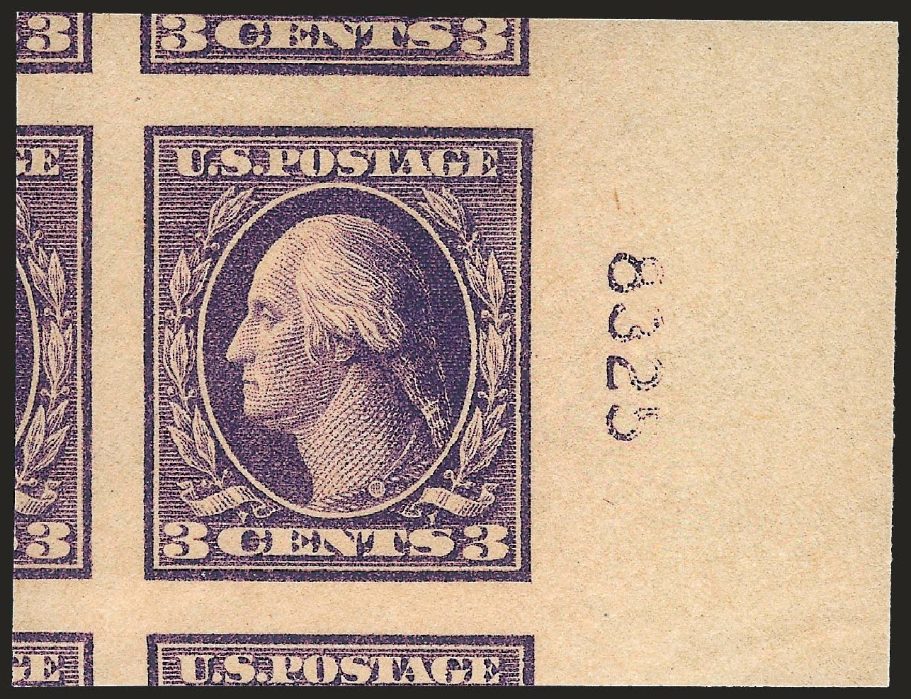 US Stamps Values Scott Cat. #484 - 3c 1917 Washington Imperf. Robert Siegel Auction Galleries, Jun 2009, Sale 975, Lot 1904