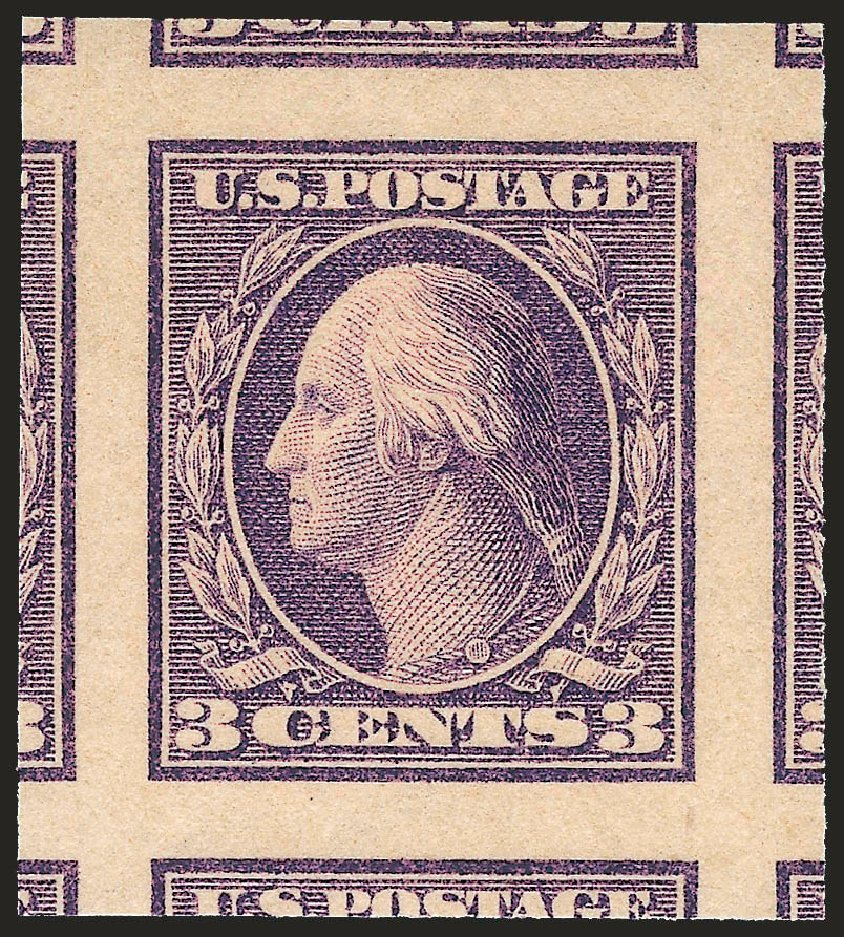 US Stamp Values Scott Catalog 484: 3c 1917 Washington Imperf. Robert Siegel Auction Galleries, Sep 2009, Sale 976, Lot 2086