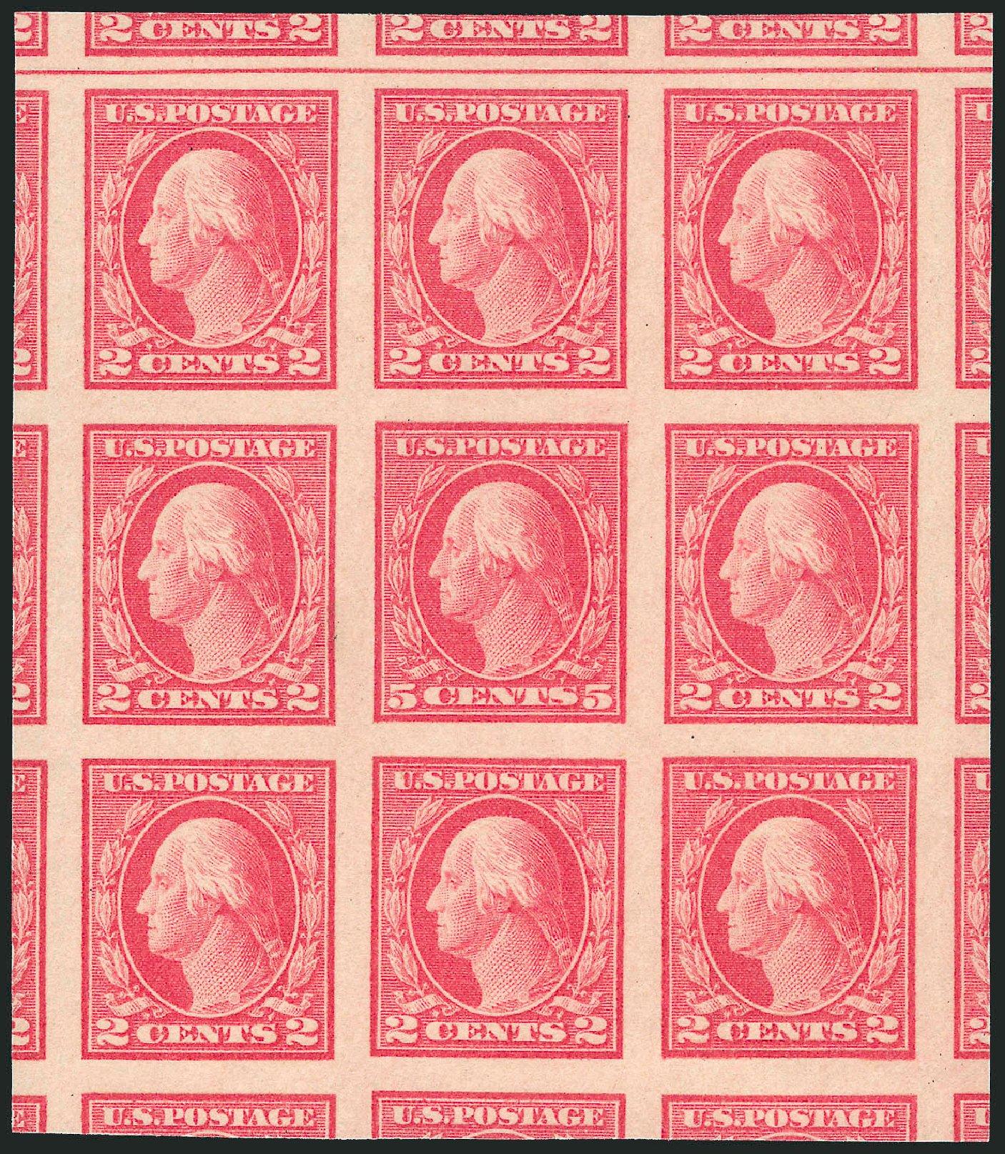 Values of US Stamp Scott Catalog 485 - 5c 1917 Washington Imperf. Robert Siegel Auction Galleries, Jun 2012, Sale 1025, Lot 229