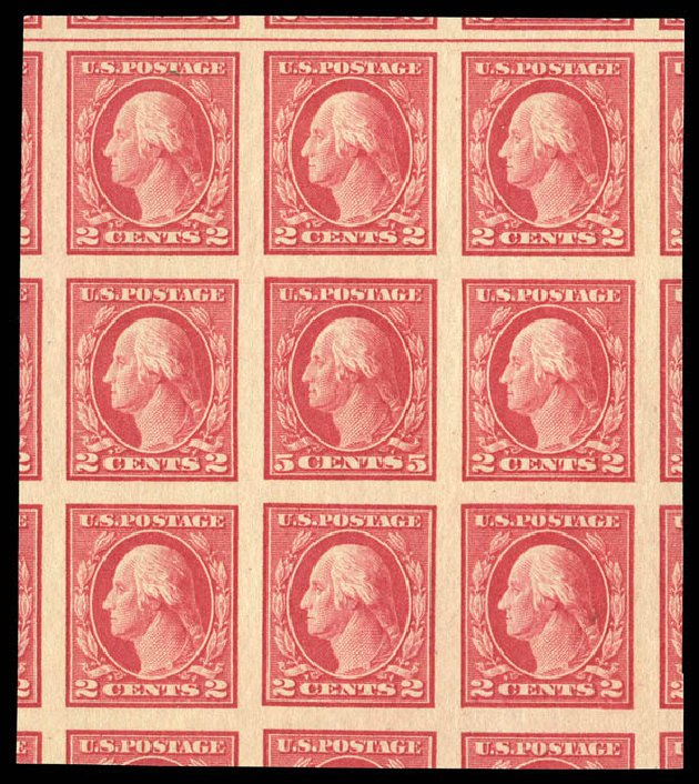 Price of US Stamp Scott Catalogue 485: 5c 1917 Washington Imperf. Matthew Bennett International, Sep 2012, Sale 345, Lot 364
