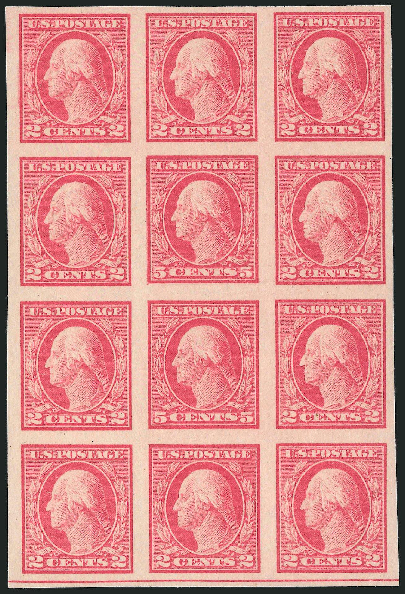 US Stamp Value Scott Catalogue # 485: 1917 5c Washington Imperf. Robert Siegel Auction Galleries, Dec 2013, Sale 1062, Lot 682