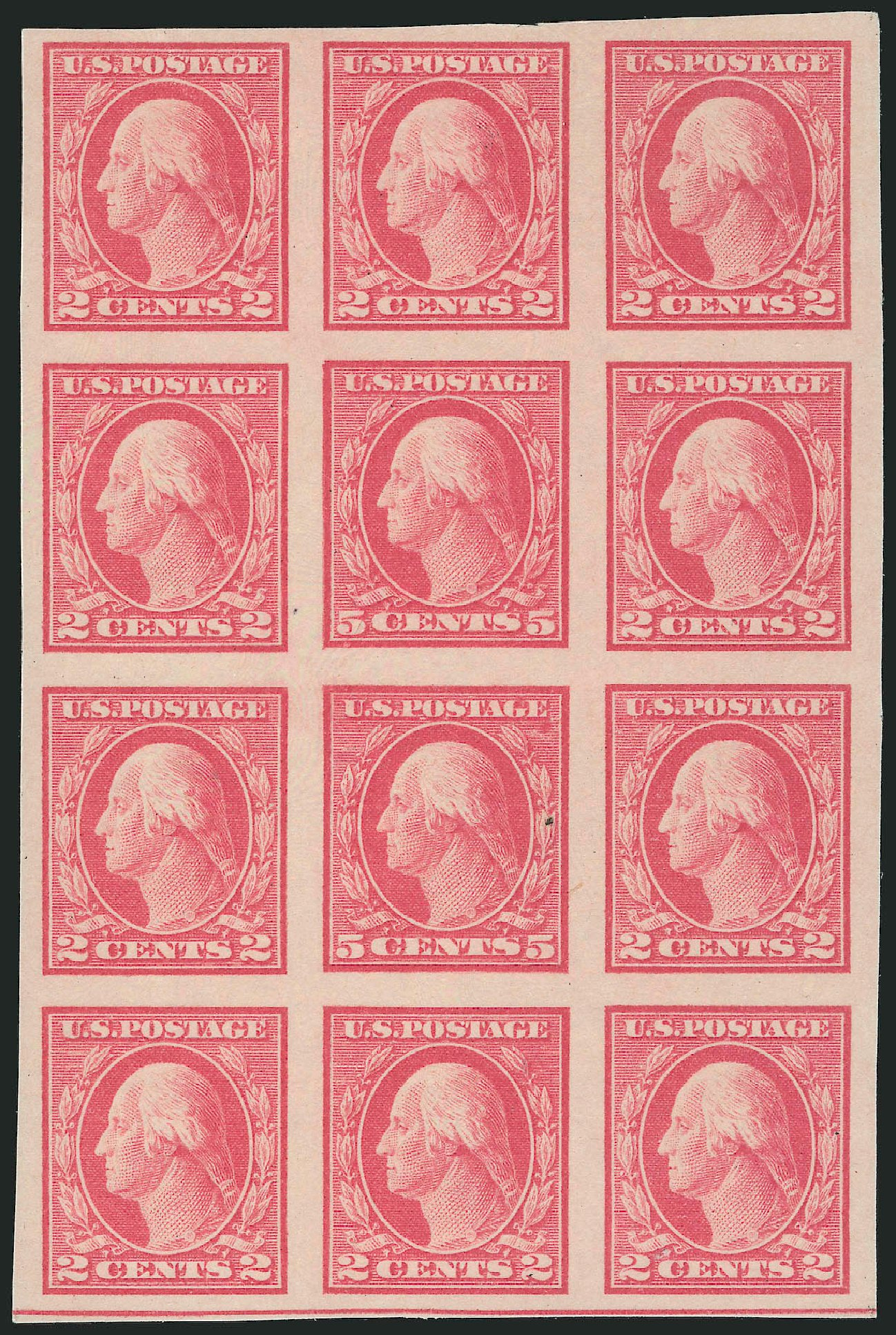 Costs of US Stamps Scott Cat. 485 - 5c 1917 Washington Imperf. Robert Siegel Auction Galleries, Mar 2013, Sale 1040, Lot 1873