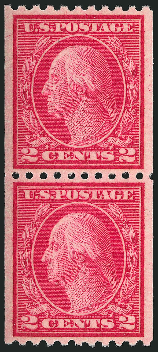US Stamp Price Scott Catalog #487: 1916 2c Washington Coil Perf 10 Horizontally. Robert Siegel Auction Galleries, Apr 2015, Sale 1096, Lot 737