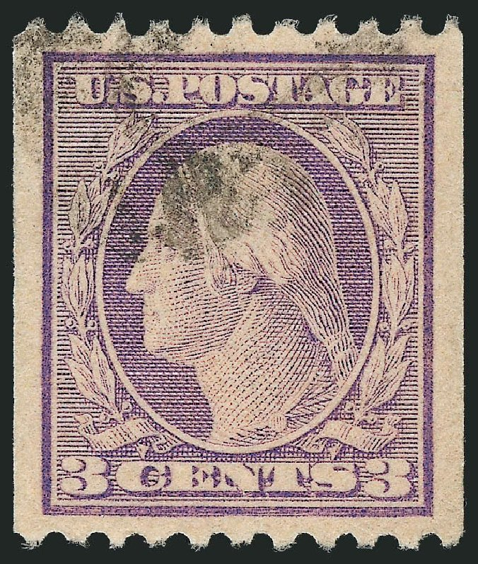 Prices of US Stamps Scott Catalogue # 489 - 1917 3c Washington Coil Perf 10 Horizontally. Robert Siegel Auction Galleries, Oct 2012, Sale 1032, Lot 3578