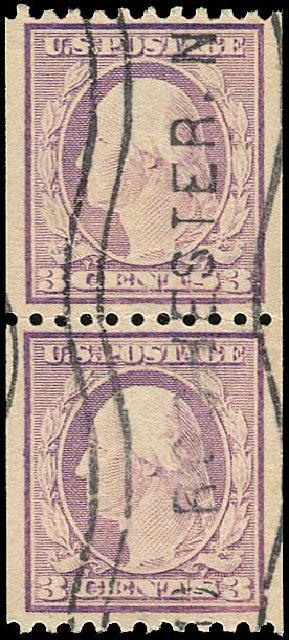 Cost of US Stamp Scott Catalogue 489 - 3c 1917 Washington Coil Perf 10 Horizontally. Regency-Superior, Aug 2015, Sale 112, Lot 879