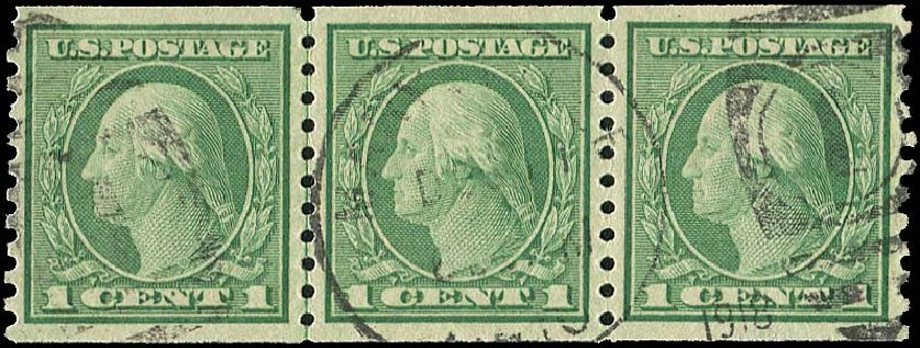 Price of US Stamp Scott # 490: 1916 1c Washington Coil Perf 10 Vertically. Regency-Superior, Aug 2015, Sale 112, Lot 880