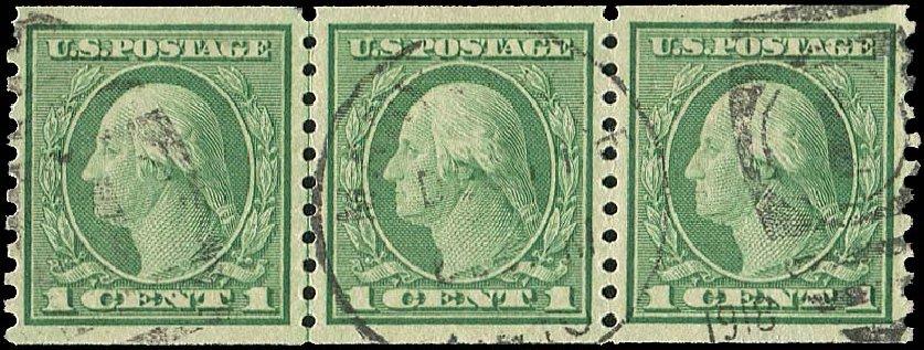 Price of US Stamp Scott # 490: 1916 1c Washington Coil Perf 10 Vertically. Regency-Superior, Aug 2015, Sale 112, Lot 880