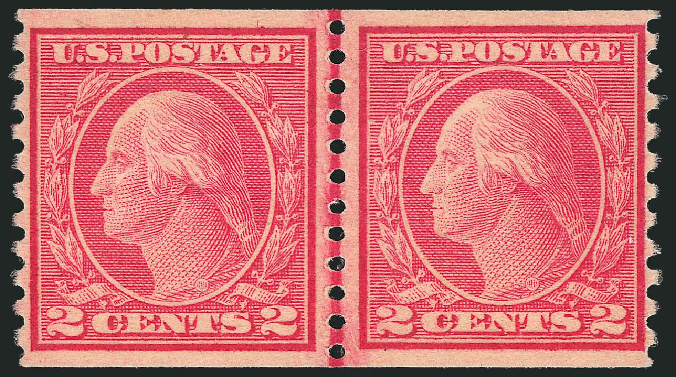 US Stamps Value Scott Catalogue # 491 - 1917 2c Washington Coil Perf 10 Vertically. Robert Siegel Auction Galleries, Feb 2015, Sale 1093, Lot 428