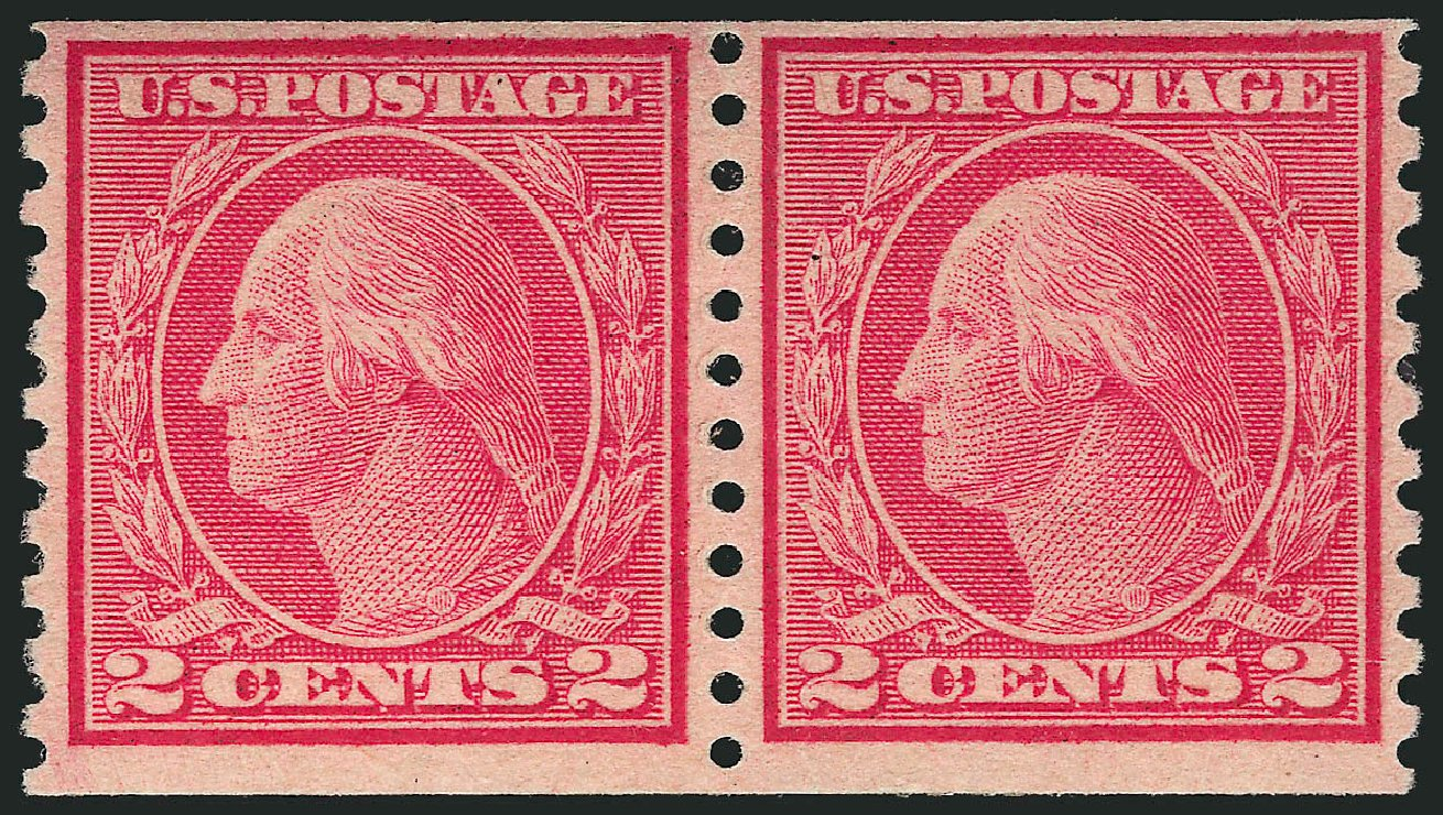 US Stamps Prices Scott Catalog #491 - 1917 2c Washington Coil Perf 10 Vertically. Robert Siegel Auction Galleries, Apr 2015, Sale 1096, Lot 738