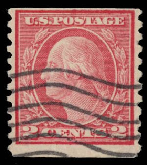 Prices of US Stamps Scott Catalogue #491: 1917 2c Washington Coil Perf 10 Vertically. Daniel Kelleher Auctions, May 2015, Sale 669, Lot 3084