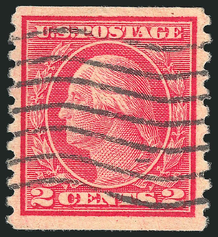 Cost of US Stamps Scott Cat. 491 - 1917 2c Washington Coil Perf 10 Vertically. Robert Siegel Auction Galleries, Jul 2015, Sale 1107, Lot 494