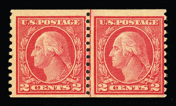 US Stamp Price Scott Catalog #491: 1917 2c Washington Coil Perf 10 Vertically. Cherrystone Auctions, Jul 2015, Sale 201507, Lot 2165