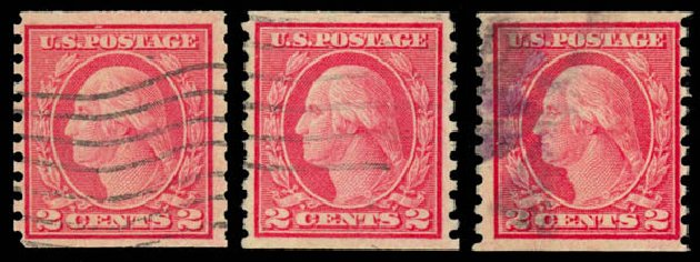 Values of US Stamp Scott Catalog # 491 - 1917 2c Washington Coil Perf 10 Vertically. Daniel Kelleher Auctions, May 2015, Sale 669, Lot 3085