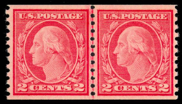 Prices of US Stamp Scott Catalogue # 492 - 2c 1917 Washington Coil Perf 10 Vertically. Daniel Kelleher Auctions, Mar 2013, Sale 635, Lot 557