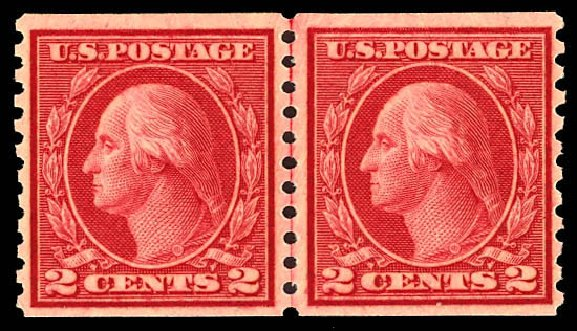 Cost of US Stamps Scott Cat. #492: 1917 2c Washington Coil Perf 10 Vertically. Daniel Kelleher Auctions, Dec 2012, Sale 633, Lot 860