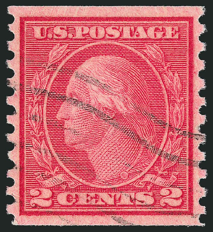 US Stamps Price Scott Cat. #492 - 2c 1917 Washington Coil Perf 10 Vertically. Robert Siegel Auction Galleries, Oct 2012, Sale 1032, Lot 3581