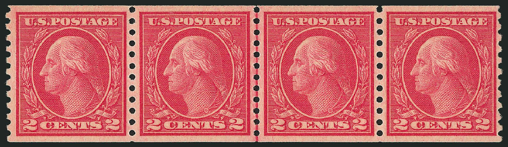 US Stamp Price Scott #492 - 1917 2c Washington Coil Perf 10 Vertically. Robert Siegel Auction Galleries, Sep 2009, Sale 976, Lot 2091