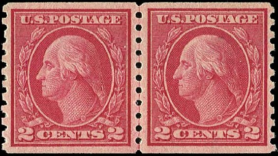 Cost of US Stamp Scott Catalogue 492: 2c 1917 Washington Coil Perf 10 Vertically. Regency-Superior, Aug 2015, Sale 112, Lot 882