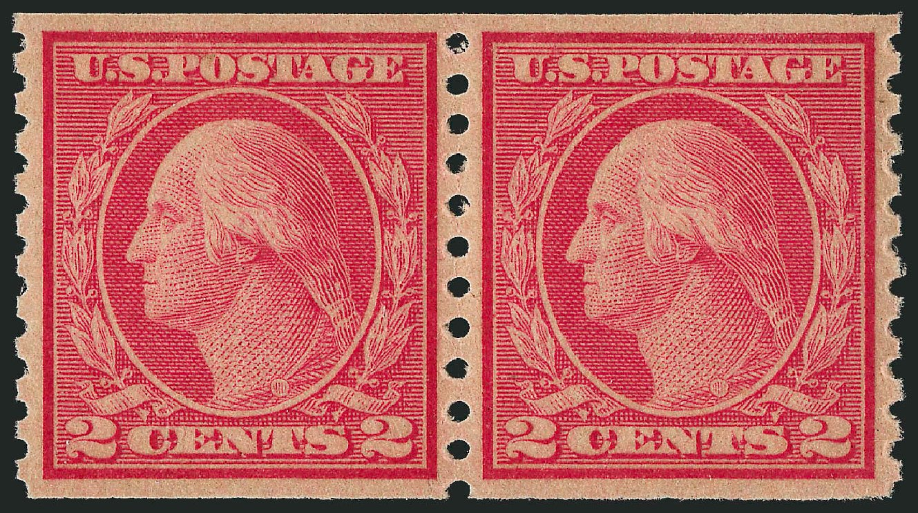 US Stamp Price Scott Cat. 492 - 1917 2c Washington Coil Perf 10 Vertically. Robert Siegel Auction Galleries, Jun 2012, Sale 1026, Lot 1436