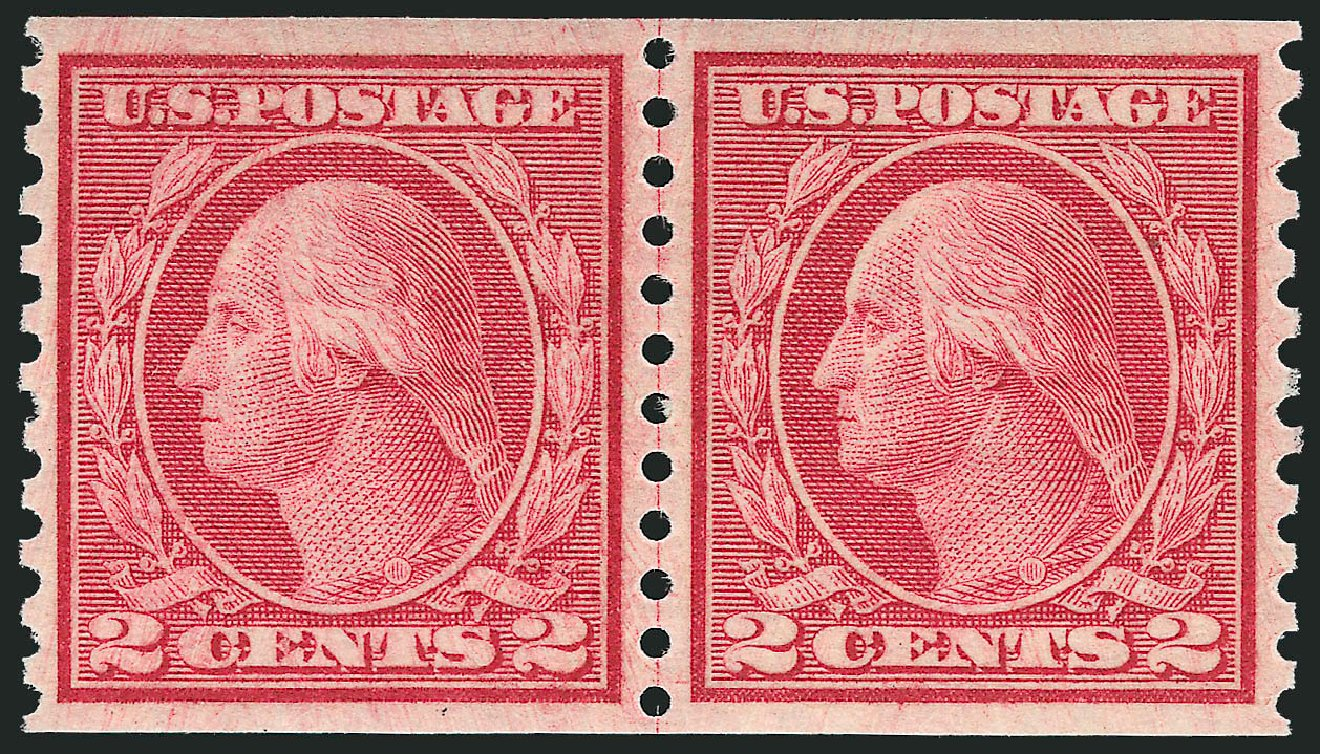 US Stamps Price Scott Catalog 492: 1917 2c Washington Coil Perf 10 Vertically. Robert Siegel Auction Galleries, Dec 2013, Sale 1062, Lot 686