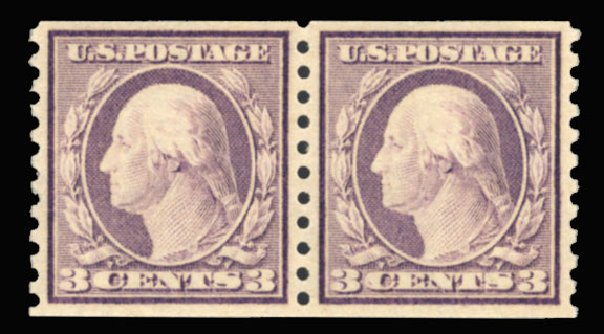 Price of US Stamps Scott Cat. # 493: 1917 3c Washington Coil Perf 10 Vertically. Cherrystone Auctions, Sep 2013, Sale 201309, Lot 17