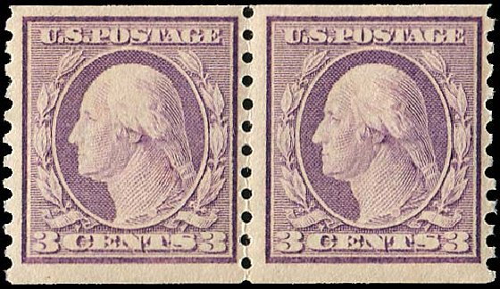 Costs of US Stamps Scott # 493: 3c 1917 Washington Coil Perf 10 Vertically. Regency-Superior, Jan 2015, Sale 109, Lot 1277