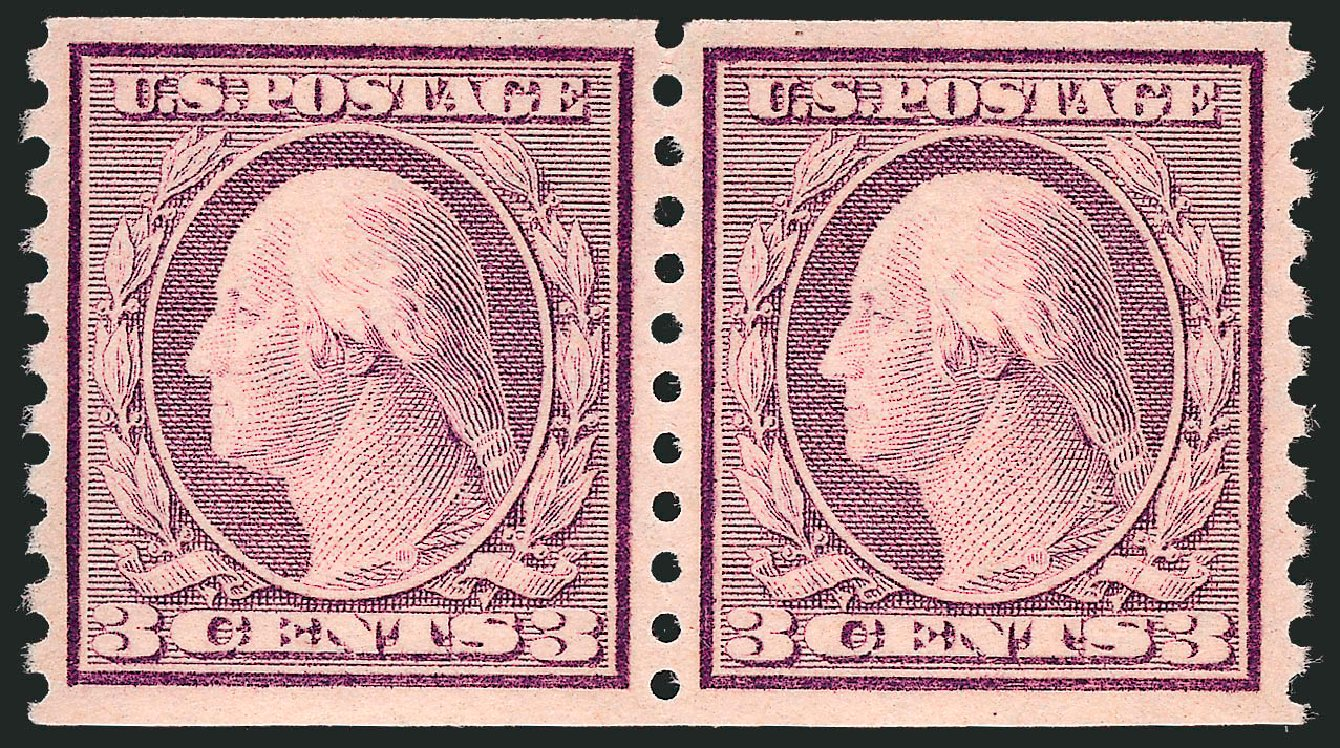 Cost of US Stamps Scott Catalog #493: 1917 3c Washington Coil Perf 10 Vertically. Robert Siegel Auction Galleries, Sep 2008, Sale 962, Lot 2768