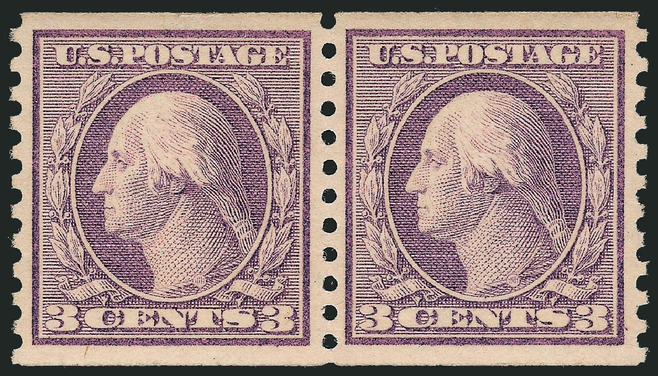 Costs of US Stamps Scott #493 - 3c 1917 Washington Coil Perf 10 Vertically. Robert Siegel Auction Galleries, Sep 2009, Sale 968B, Lot 641