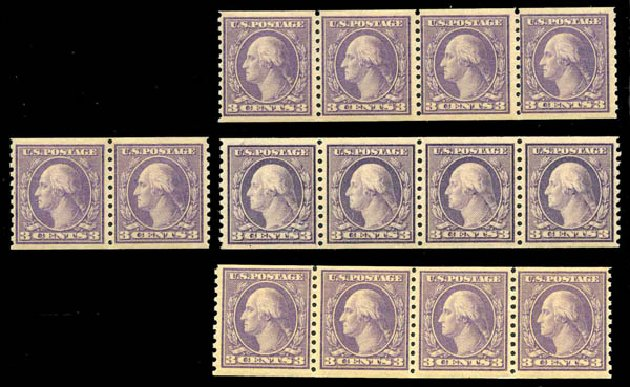 US Stamps Prices Scott Cat. # 493: 1917 3c Washington Coil Perf 10 Vertically. Harmer-Schau Auction Galleries, Jan 2014, Sale 100, Lot 592