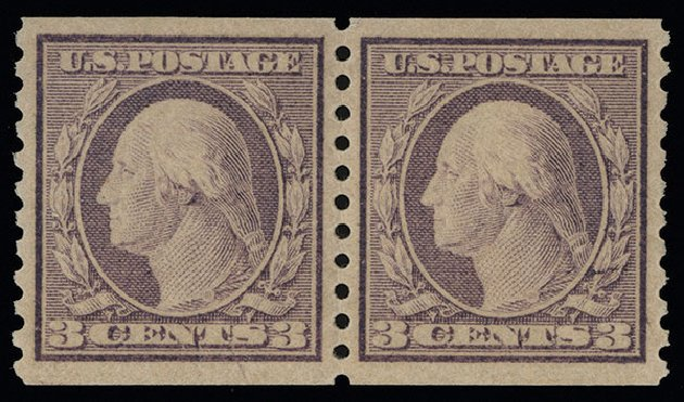 Prices of US Stamp Scott #493: 3c 1917 Washington Coil Perf 10 Vertically. Spink Shreves Galleries, Aug 2013, Sale 144, Lot 262