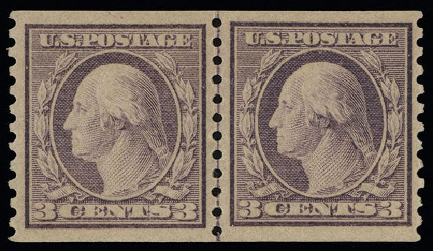 Prices of US Stamp Scott Catalogue # 493: 1917 3c Washington Coil Perf 10 Vertically. Spink Shreves Galleries, Aug 2013, Sale 144, Lot 263