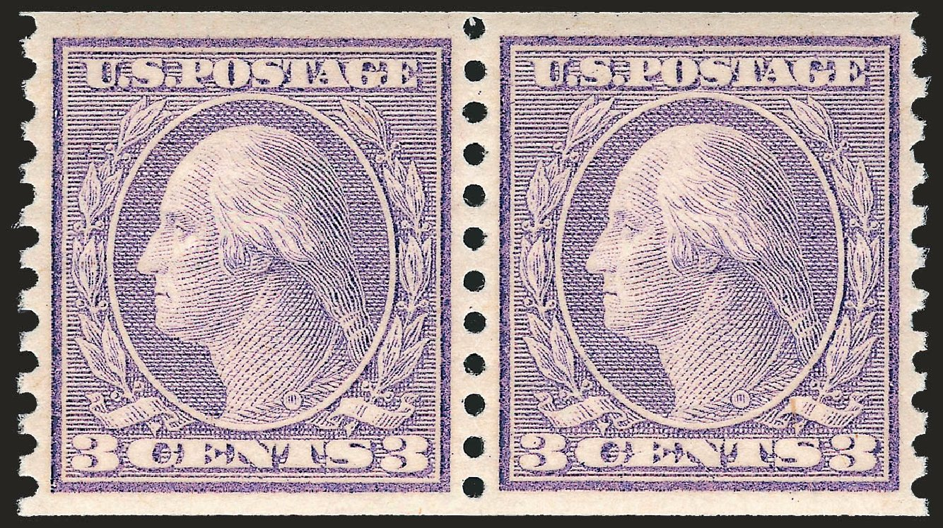 Cost of US Stamp Scott Catalog 494: 3c 1917 Washington Coil Perf 10 Vertically. Robert Siegel Auction Galleries, Jun 2009, Sale 975, Lot 1907