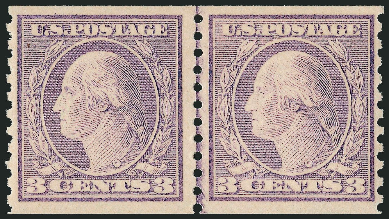 Price of US Stamps Scott Catalog #494: 3c 1917 Washington Coil Perf 10 Vertically. Robert Siegel Auction Galleries, Oct 2008, Sale 963, Lot 1024