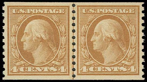 Price of US Stamps Scott Catalog # 495 - 1917 4c Washington Coil Perf 10 Vertically. H.R. Harmer, Jun 2013, Sale 3003, Lot 1342