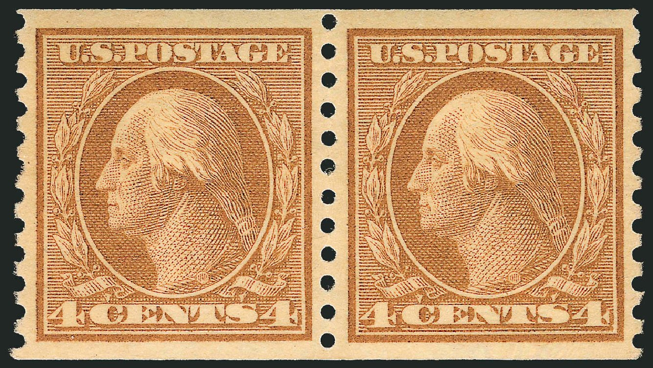 US Stamp Prices Scott Catalogue # 495: 1917 4c Washington Coil Perf 10 Vertically. Robert Siegel Auction Galleries, Dec 2013, Sale 1062, Lot 693