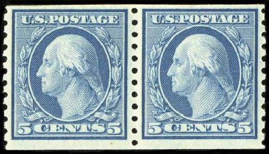 US Stamps Prices Scott # 496: 1919 5c Washington Coil Perf 10 Vertically. Spink Shreves Galleries, Jul 2015, Sale 151, Lot 310