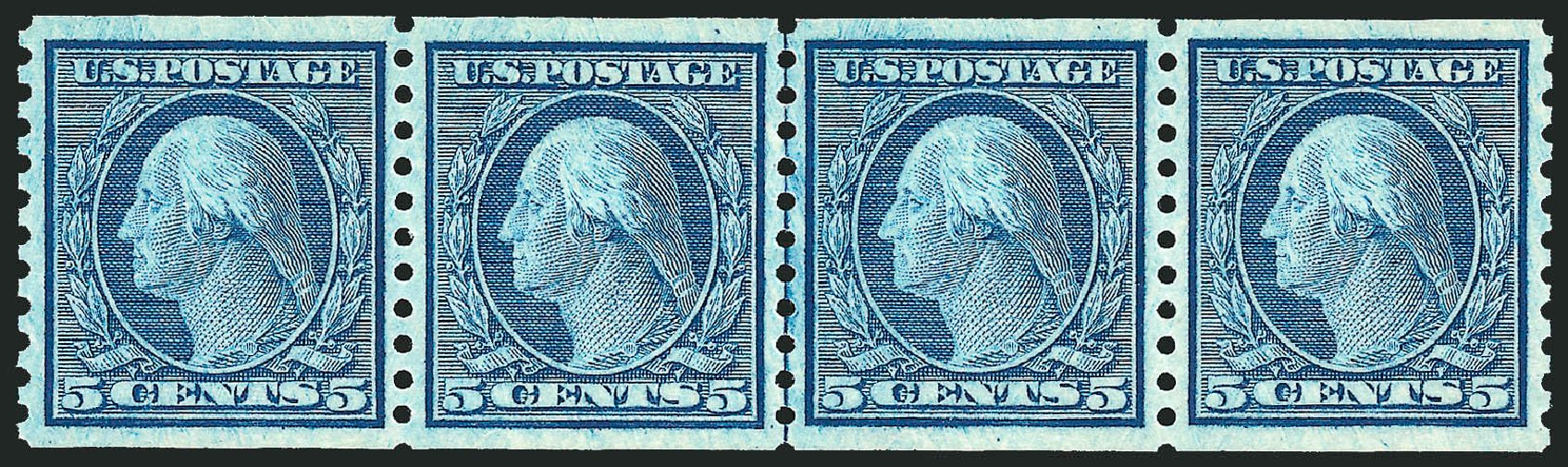 Cost of US Stamp Scott Cat. # 496: 1919 5c Washington Coil Perf 10 Vertically. Robert Siegel Auction Galleries, Dec 2012, Sale 1037, Lot 2082
